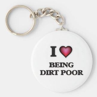 Chaveiro Eu amo ser pobres da sujeira