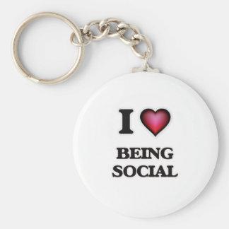 Chaveiro Eu amo ser social