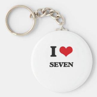 Chaveiro Eu amo sete