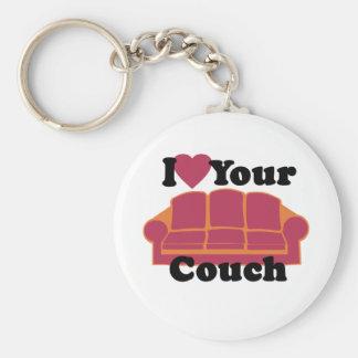 Chaveiro Eu amo seu sofá