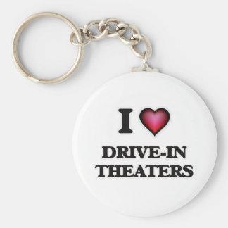 Chaveiro Eu amo teatros do cinema ao ar livre