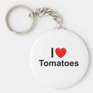 Chaveiro Eu amo tomates do coração