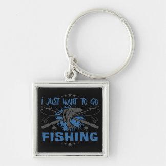 Chaveiro Eu apenas quero ir pescar