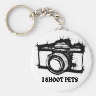 Chaveiro Eu disparo em animais de estimação