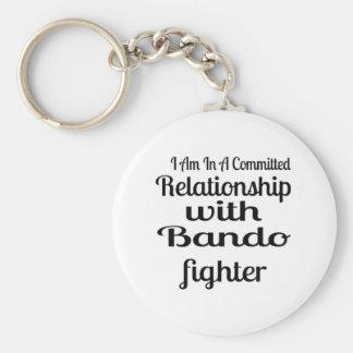 Chaveiro Eu estou em uma relação cometida com Bando Fighte