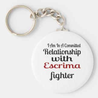 Chaveiro Eu estou em uma relação cometida com Escrima Figh