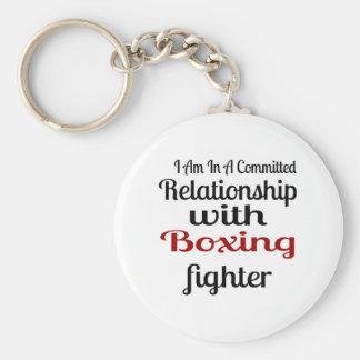 Chaveiro Eu estou em uma relação cometida com luta do