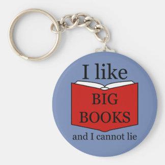 Chaveiro Eu gosto de livros grandes