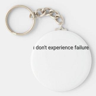 Chaveiro Eu não experimento a falha