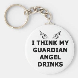 Chaveiro Eu penso minhas bebidas do anjo-da-guarda