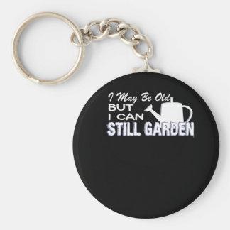 Chaveiro Eu posso ser idoso mas eu posso ainda jardinando