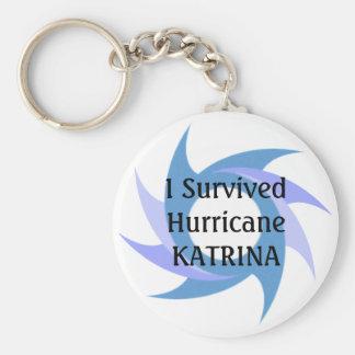 Chaveiro Eu sobrevivi à CORRENTE CHAVE do botão de KATRINA