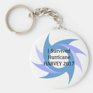 Chaveiro Eu sobrevivi à CORRENTE CHAVE do botão do furacão