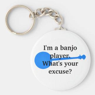 Chaveiro Eu sou um jogador do banjo, o que sou sua desculpa
