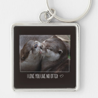 Chaveiro Eu te amo como nenhuma foto bonito da lontra