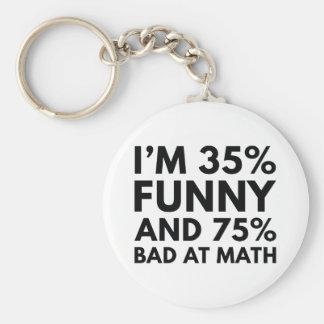 Chaveiro Eu tenho 35 por cento engraçado