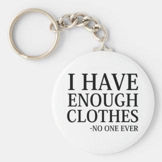Chaveiro Eu tenho bastante roupa