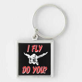 Chaveiro Eu vôo, faz você? (branco)