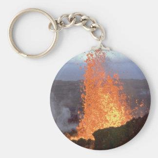 Chaveiro explosão do vulcão da lava