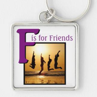 Chaveiro F para amigos