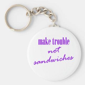 Chaveiro Faça o problema, não sanduíches