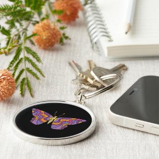 Chaveiro Fácil amar a corrente chave das borboletas do