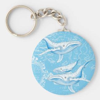 Chaveiro Família das baleias azuis