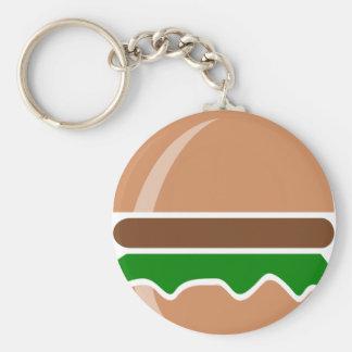 Chaveiro Fast food do Hamburger um sanduíche