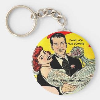 Chaveiro Favores engraçados do casamento do vinatge