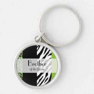 Chaveiro Favores - impressão animal, zebra, leopardo -