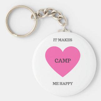 Chaveiro Faz-me o acampamento feliz
