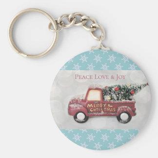 Chaveiro Feliz Natal do caminhão do brinquedo do amor & da
