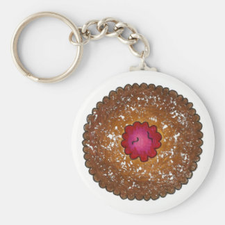 Chaveiro Feriado do biscoito do Natal do Torte de Linzer da