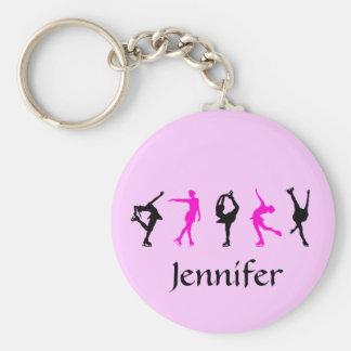 Chaveiro Figura meninas do patinador & corrente chave conhe