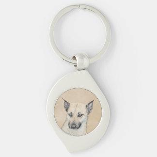 Chaveiro Filhote de cachorro de Chinook (orelhas aguçado)