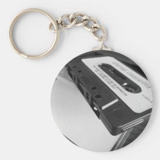 Chaveiro Fita da cassete áudio do vintage na mesa de