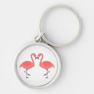 Chaveiro Flamingos cor-de-rosa tropicais - Hawaiian, Luau