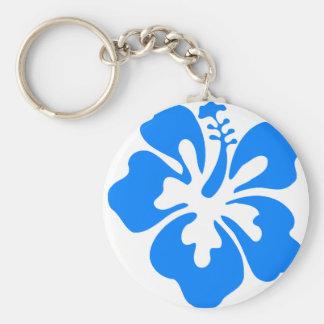 Chaveiro Flor azul do hibiscus