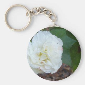 Chaveiro flor branca dos mutabilis do hibiscus