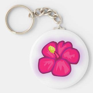 Chaveiro Flor cor-de-rosa de Havaí