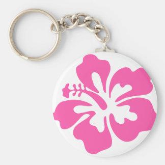 Chaveiro Flor cor-de-rosa do hibiscus