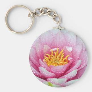 Chaveiro Flor cor-de-rosa do lírio de água