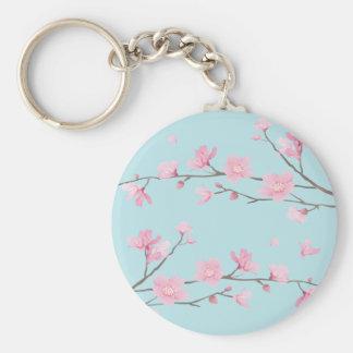 Chaveiro Flor de cerejeira - azul-céu