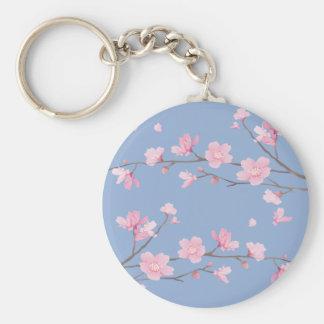 Chaveiro Flor de cerejeira - azul da serenidade