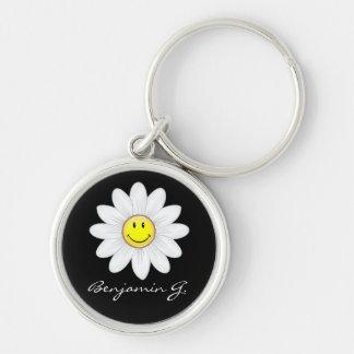 Chaveiro Flor de sorriso da margarida