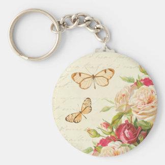 Chaveiro floral dos rosas & das borboletas do
