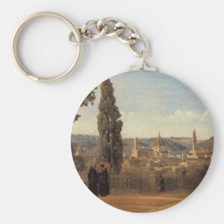 Chaveiro Florença, os jardins de Boboli por Camilo Corot