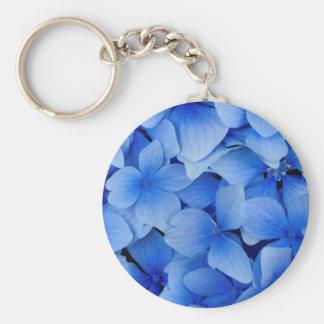 Chaveiro Flores azuis do Hydrangea