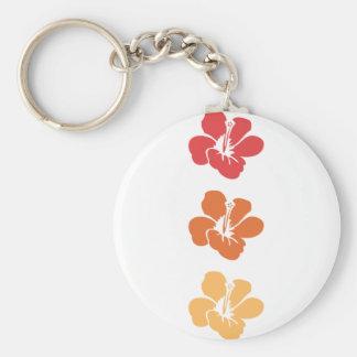 Chaveiro Flores coloridas do hibiscus