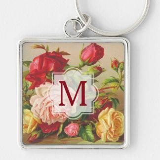 Chaveiro Flores do buquê dos rosas do Victorian do vintage